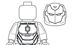 Iron Man Coloring Pages Color Free Simple Lego Colouring Clean To