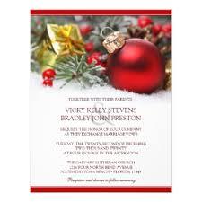 christmas wedding invitations & announcements zazzle Wedding Invitations Christmas festive christmas wedding invitation wedding invitations christian