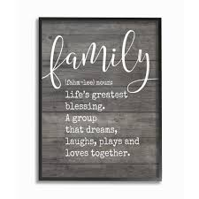the stupell home decor collection 16 in x 20 in family definition planked