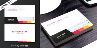 Business Card Template Double Sided 2 5 Vertical Free Download Word