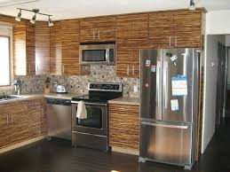 kitchen with track lighting. Picture Of Bamboo Kitchen Cabinet Design Along With Track Lighting