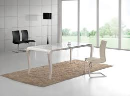 transitional white gloss dining table