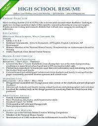 sample of high school resume high school resume sample high school resume  ivy league student