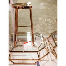 rose gold bar stools. Polished Rose Gold Stool Bar Stools