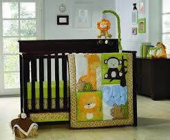 nice baby nursery furniture set with jungle theme on interior decor