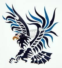 Fototapeta Tribal Umění Klasické Tetování Orel
