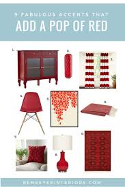 I thought I'd come back today and share some of my top picks for red  accessories and accent pieces.