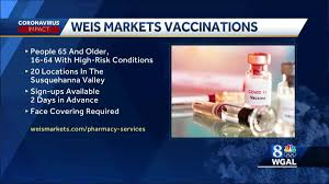 The covid vaccine trials have happened at breakneck speed, but they haven't skipped any steps. Weis Markets Offering Covid 19 Vaccine At Some Pa Stores