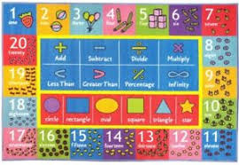 Kids Math Charts Details About Math Chart Area Rug Kids Bedroom Decor Symbol Number Shape Rubber Learning Floor