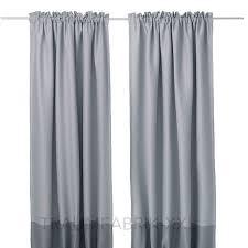 Ikea Marjun Vorhang Vorhänge Verdunkelt 2 Schals Gardinenschals Grau