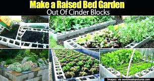 concrete block raised garden bed design plans making a out of pallets