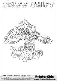 Kleurplaat Skylander Ninjini Skylanders Printable Coloring Pages For