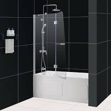 aqua tub door open door aqua shower door frosted glass