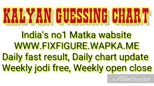 Kalyan Guessing Chart Kalyan Matka Chart Kalyan Bazar
