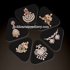 diamond pendants and jhumkas for black