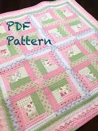 Baby Quilt Designs Chic Baby Girl Quilt Pattern By Christine J Designs Enjoy Stitching