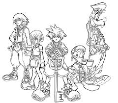 Printable Kingdom Hearts Goofy Characters Coloring