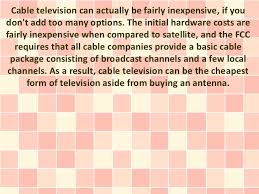 advantages and disadvantages of cable tv advantage 3 price 7 cable television
