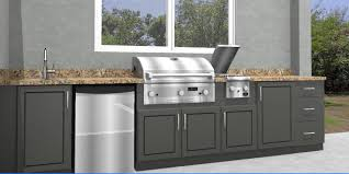 Enchanting Outdoor Kitchen Cabinets Polymer Collection With Ideas