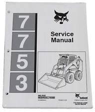 bobcat service manual bobcat 7753 skid steer loader service manual shop repair book part 6720899