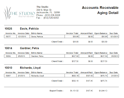 Ar Aging Reports Spectra Mystratus Desktop Account Receivable Aging Report