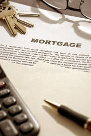 mortgage loan contract doent on lender desk stock image image of office agreement