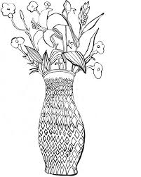 Small Picture Flower Vase Coloring Pictures Coloring page empty flower vase
