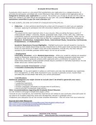 Graduate School Resumeate Phd Application Cv Word High Student
