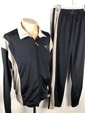 puma tracksuit mens. vintage mens puma tracksuit jacket \u0026 pants different sizes medium and large
