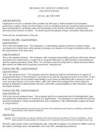 Objective For Legal Assistant Resume Legal Secretary Resume Samples Buy This Legal Assistant Resume 30
