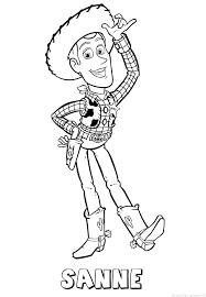 Sanne Toy Story Naam Kleurplaat