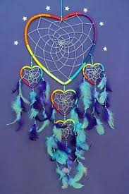 Beautiful Dream Catcher Images DREAM CATCHER LARGE RAINBOW LOVE HEART silver and beads BEAUTIFUL 35