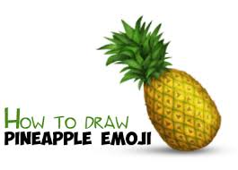 pineapple drawing step by step. how to draw a pineapple emoji easy step by drawing tutorial - tutorials i