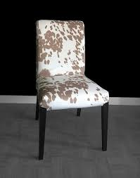 cow print ikea henriksdal dining chair cover custom cow hide