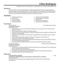 Resume Sample Resumes For Administrative Assistants Best