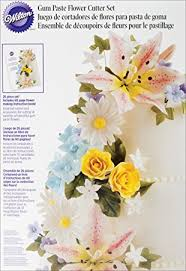 wilton gum paste flowers set