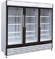upright freezer glass door
