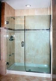 standard shower enclosure 5 foot doors ft inline door and panel