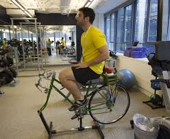 google employee fab dolan works out and mixes his drink on the office blender bike google e76 the