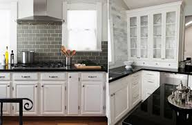 Black Granite Countertops With Tile Backsplash Simple How To Pair Countertops And Backsplash Kitchen Redo Pinterest