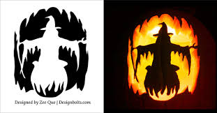 Free Printable Pumpkin Carving Patterns Simple Halloween Stencils Templates Thevillasco
