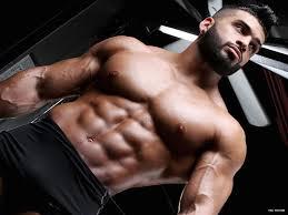 Gay male body builder