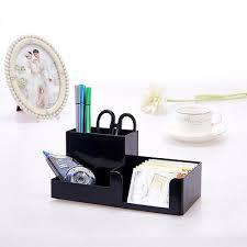 office pen holder. 6 Of 9 White Office Home Plastic Desk Pen Pencil Holder Storage Stationery Organizer M