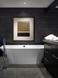 dark colored bathroom walls