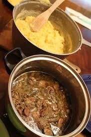 Liver & Onion & Mamaliga = Romanian Traditional Dish - more here: http:/