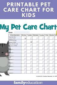 Pet Care Chore Chart Free Printable For Kids Pet Care