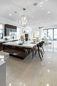 white brown colors kitchen breakfast. Kitchens With Islands. Large Modern White And Dark Brown Kitchen Huge Island Breakfast Bar Colors