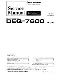 pioneer deq manual related keywords pioneer deq manual pioneer deq 7600 service manual schematics eeprom