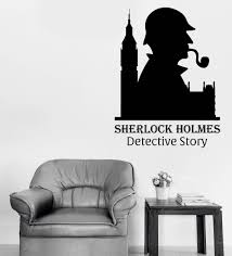 Us 72 25 Offsherlock Holmes Classic Wall Decal Quotes Detective Story Vinyl Wall Stickers For Kids Rooms Art Mural Boys Playroom Decor Sy77 In
