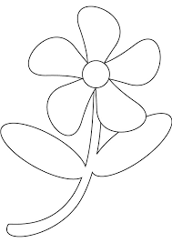 How To Draw Flowers For Kids Coloring Pages Draw Easy Flowers Easy